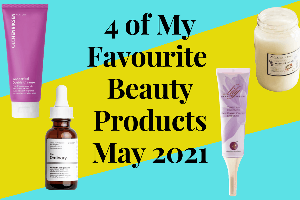 4 of My Favourite Beauty Products May 2021. Part of this image is thanks to Delfina Cocciardi for making this photo available freely on Unsplash